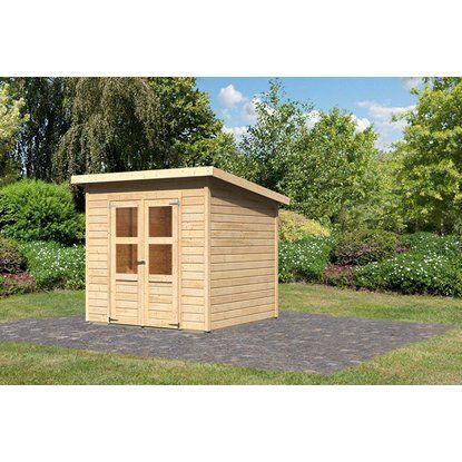 Woodfeeling Holz Gartenhaus Neuenburg 2 Natur 208 Cm X 210 Cm Kaufen Bei Obi Gartenhaus Garten Haus