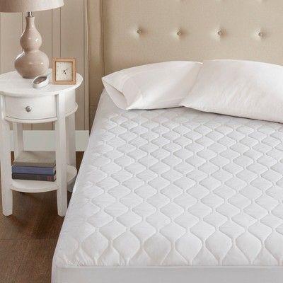 Microfiber Heated Mattress Pad With 3m Scotchgard Full White Beautyrest Heated Mattress Pad Mattress Mattress Pad