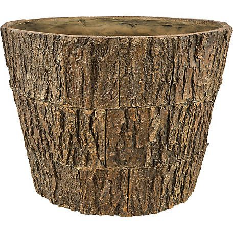Red Shed Tree Bark Planter At Tractor Supply Co Tree Bark Planters Tractor Supplies