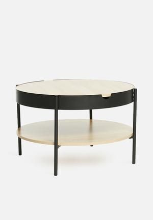 Tipton Tray Coffee Table Black Coffee Table Table Side Table