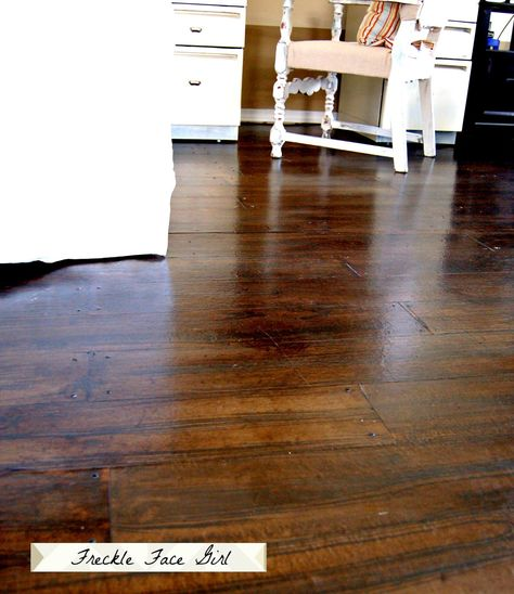 Diy Faux Wood Plank Floor Using Brown Kraft Paper Freckle Face