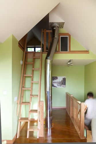 Staircase Photos Attic Storage Design, Pictures, Remodel, Decor and Ideas - page 2