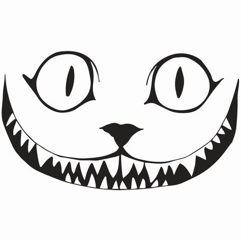 """Cheshire Cat Smile Decal, 5.5""""/7.5""""/11.5"""
