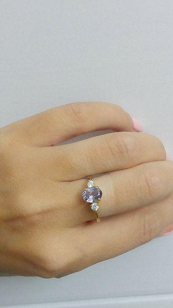 Kristall - Dreifach-Ring, Ehering, Alexandrit ring, grün - ein Designerstück von…