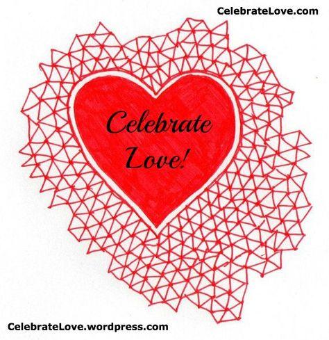 Red geometric love heart illustration digital by LaurelHowells