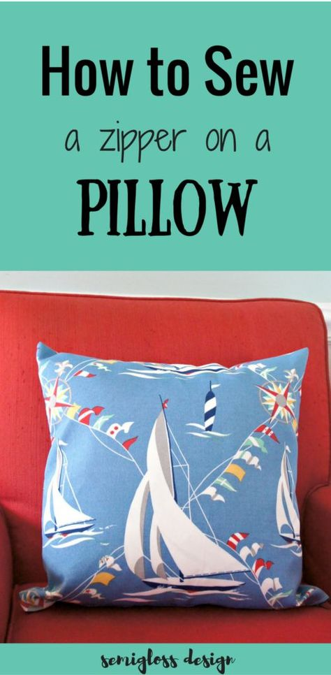 Sewing A Zipper In A Pillow.How To Sew A Zipper In A Pillow The Easy Way Sewing