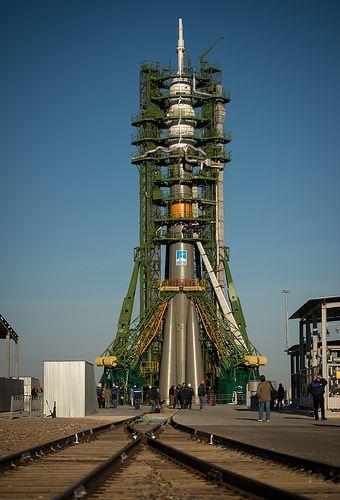 Foguete Soyuz - Esta foto foi tirada em 21 de outubro de 2012 em Qyzylorda, Cazaquistão, usando uma uma Nikon D4.