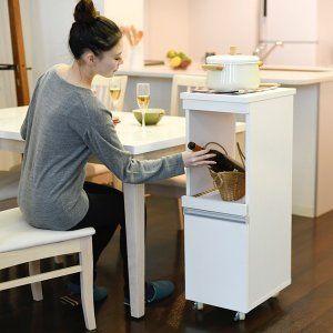 キッチンワゴン 家電 収納 炊飯器 ジャー スライドレール コンセント挿し口 家電収納 キッチンワゴン キッチン