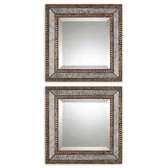 Mercer41 Wall Mirror Reviews Wayfair Framed Mirror Wall Wall Mirrors Set Antique Mirror Wall