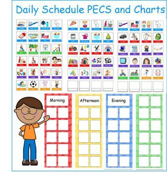 Daily Routine Picture Schedules With Pecs In 2020 With Images