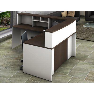 Latitude Run Dulcia Office L Shape Reception Desk In 2020