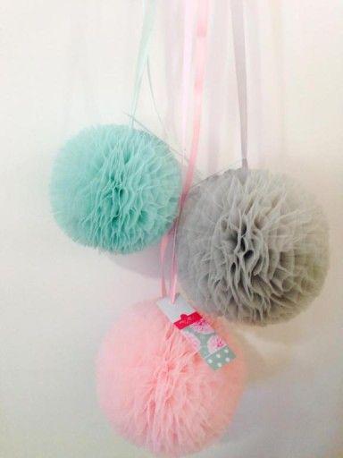 Pompon Pompony Z Tiulu Tiulowe Wysylka 24 H 15 Cm 6342409934 Oficjalne Archiwum Allegro Diy And Crafts Baby Staff Crafts