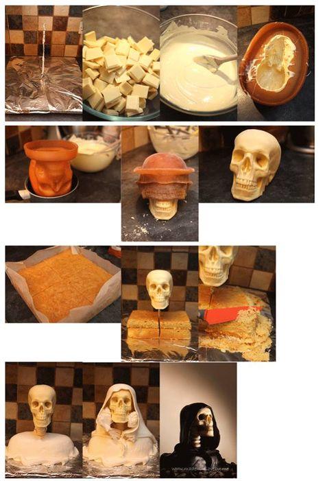 Skeleton cake tutorial