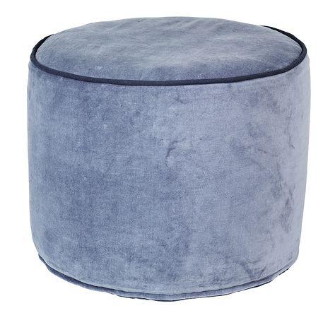 Pouf Haut Rond Bleu Broste Copenhagen Visuel 1 Fauteuil