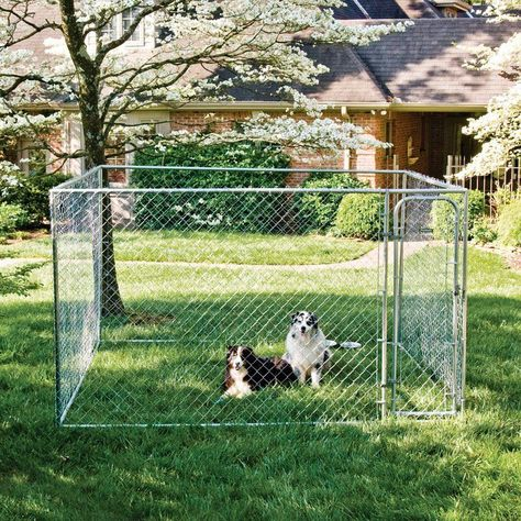 Details about XXL Chain Link Dog Kennel Outdoor 10x10x6
