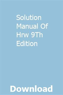 Solution Manual Of Hrw 9th Edition Writing Paper Template Solutions Manual