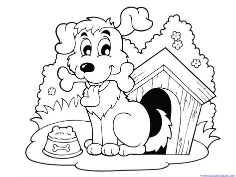 Coloring Pages Dog And Cats For Preschool Click Picture For