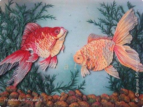 Quilled Tropical Goldfish - by: Natalia Tkachuk - FB