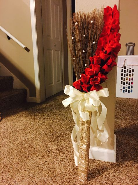 What Wedding Jumping Broom Where Old Time Pottery Cinnamon Brooms Price 8 Each Two B Wedding Broom Wedding Ceremony Decorations Red And White Weddings