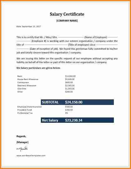 9 Salary Statement Format In Word Business Cards Layout Salary