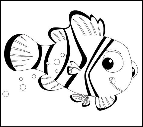 Finding Nemo Characters Coloring Pages Nemo Coloring Pages