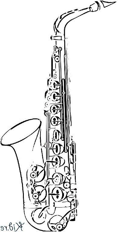 9 Nouveau Coloriage Saxophone Images Alte Buchseiten Buchseiten