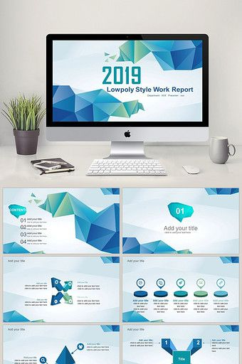 Lowpoly Style Work Report Ppt Template Powerpoint Pptx Free Download Pikbest Powerpoint Template Free Powerpoint Free Free Powerpoint Templates Download
