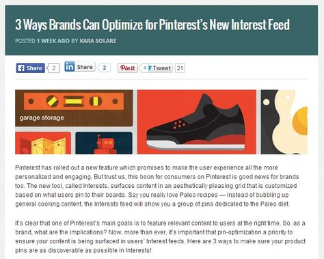 3 Ways Brands Can Optimize for Pinterest's New Interest Feed