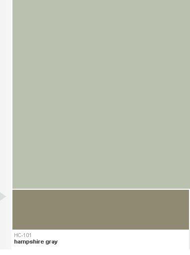 Hampshire Gray At Bottom Next To Benjamin Moore S Aganthus Green