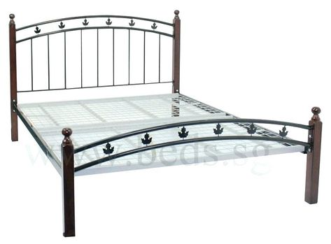 Black Cast Iron Bed Frame Iceland Wrought Queen Size Iron Bed