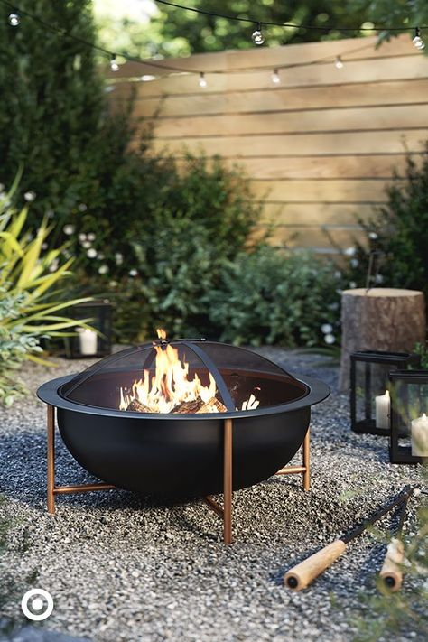 Stay warm on crisp fall nights with a fire pit. It's the perfect place to gather friends and family.