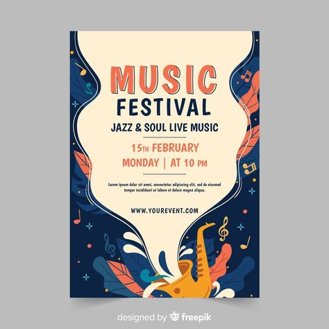 Download Hand Drawn Music Festival Poster for free