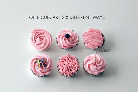 Six Cupcakes, Six Different Ways