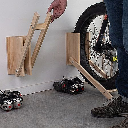 So easy and quick to make, this bicycle storage rack by build something is ideal for the whole family in a weekend. So go ahead and gather your supplies to get started on this project.