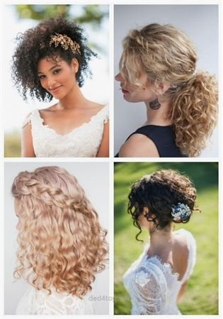 24 Wedding Hairstyles For Naturally Curly Hair Wedding Hairstyles Naturally Curly Hair Curly Hair Styles Naturally Curly Hair Styles Curly Wedding Hair