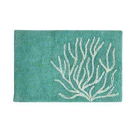 Blue Coral Cotton Bath Mat Coral Bath Rugs Bath Rug Tropical Bathroom
