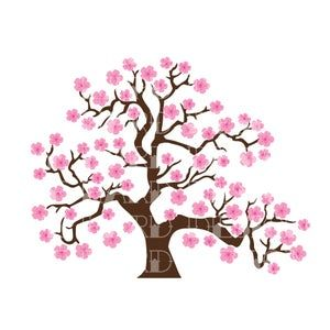 Counted Cross Stitch Pattern Cherry Blossom Plant Cross Etsy In 2021 Tree Drawing Rainbow Art Blossom Trees