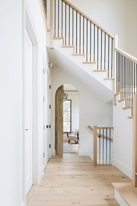 Wrought Iron Stairs, Staircase Railings, Metal Stair Spindles, Iron Stair Balusters, Modern Staircase, English Farmhouse