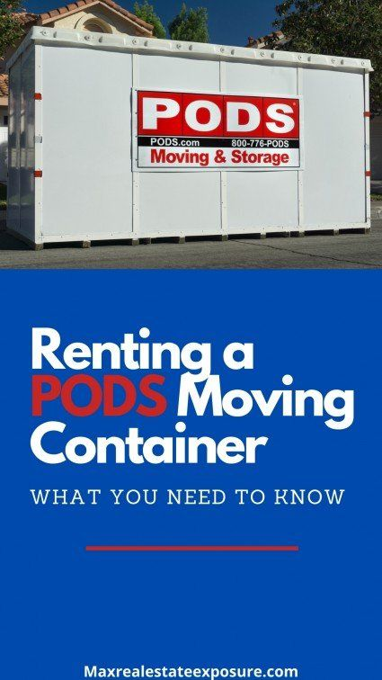 Moving storage container rental
