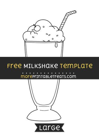 Free Milkshake Template Large Milkshake Templates Printable