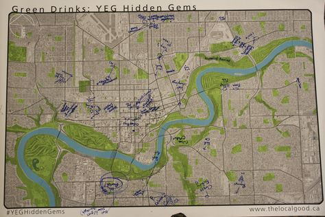 Edmonton's Hidden Gems: GreenDrinks-made maps (March 2013)  | The Local Good | #greendrinksyeg #yeghiddengems