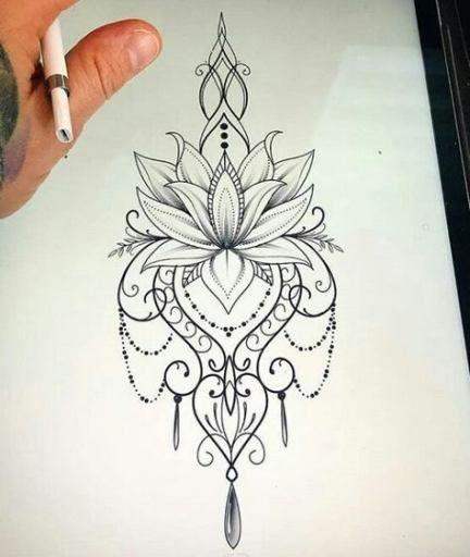 Womens Tattoo Thigh Lace 57 Super Ideas Mandala Tattoo Sleeve Tattoos Thigh Tattoo Designs