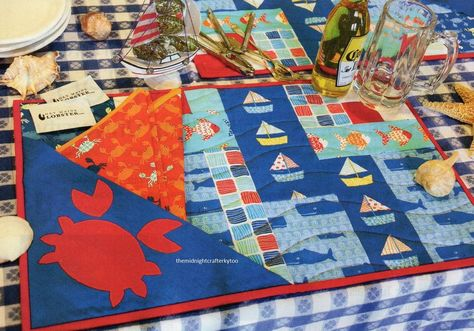 Crab shack quilt pattern pieced applique ca nautical quilts