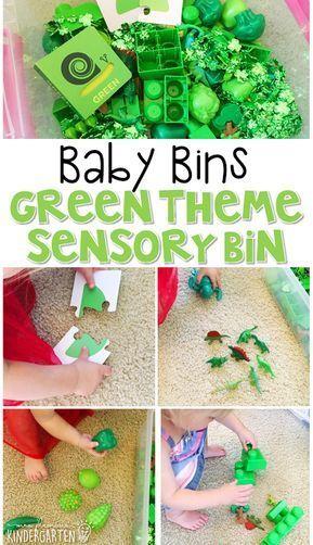 Baby Bins Green Theme Mrs Plemons Kindergarten Learning Colors Color Activities Preschool Activities Toddler Green colour theme for preschool