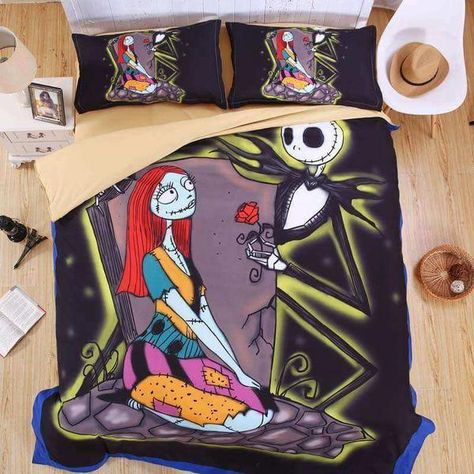 3D Duvet Cover Set The Nightmare Before Christmas Bedding Set 4PCS