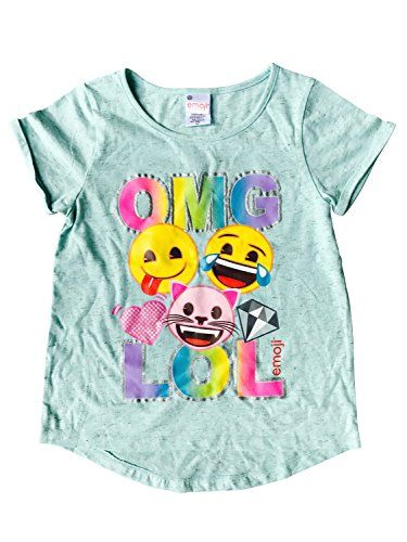 Emoji Girls Omg Lol Tee Shirt Mint Shirts For Girls Girl