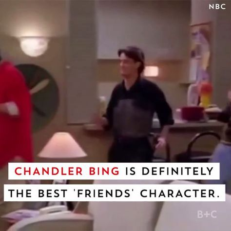 Watch this video to see why Chandler Bing is *DEFINITELY* the best Friends character.