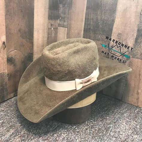 1e303d1dd70 Pecan Shag with Oatmeal Bow Tie Trim for @chrisbumgarner1 #warbonnet  #westernfasion #hataholics Thanks For The Business!