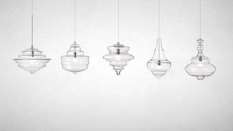 Moderne Lampen 5 : 5 glazen hanglampen ge nspireerd door 5 klassieke kroonluchters