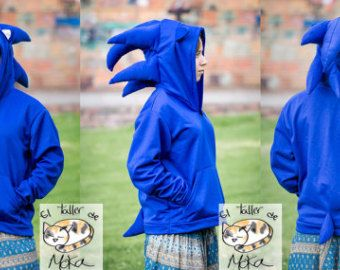 Sonic The Hedgehog Hoodie Sonic Birthday Sonic Costume Hoodies